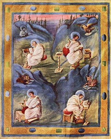 The Four Evangelists, from The Aachen Gospels.