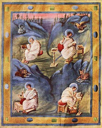 Aachen Gospels - Evangelists Page
