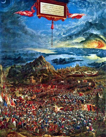 Albrecht Altdorfer's The Battle of Alexander at Issus.
