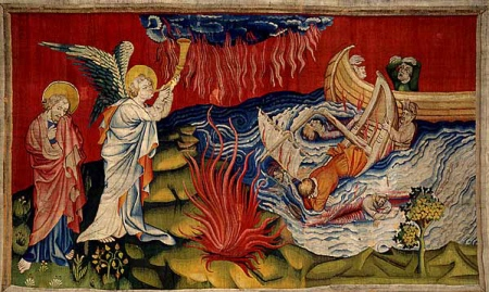 A scene from the Apocalyse Tapestry.