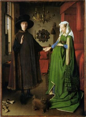 The Arnolfini Portrait, by Jan van Eyck.