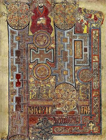 An illuminated page from the Book of Kells.