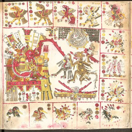 Portion of the Borgia Codex.