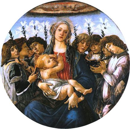 Botticelli_madonna and eight angels