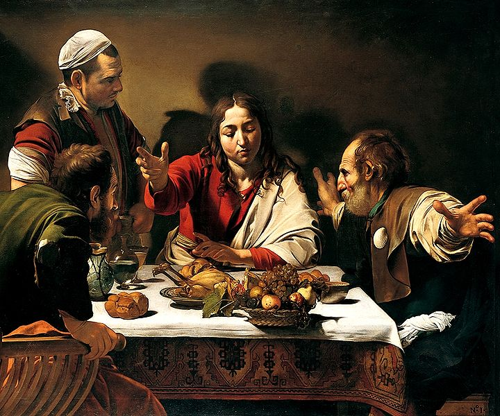 Caravaggio-Supper_in_Emmaus 3