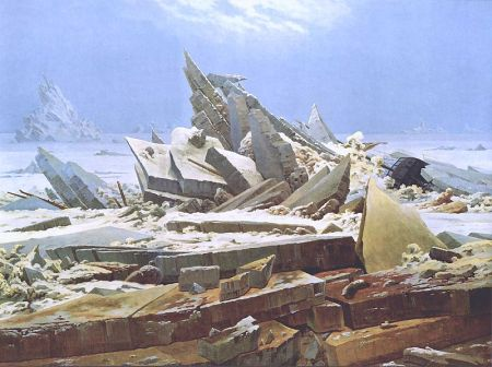 Sea of Ice depicts a shipwreck in North Atlantic.