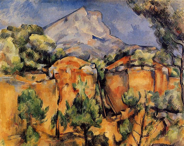 Cezanne - Mont_Sainte-Victoire_Seen_from_the_Bibemus_Quarry_1897