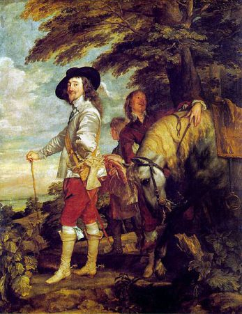Charles I at the Hunt.