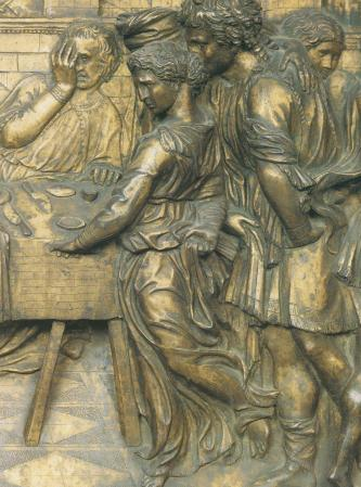 feast-of-herod,-bronze-relief,-donatello,-mid-1420s-(baptistery,-siena)(3)