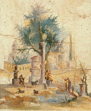 Detail of fresco from Villa of Agrippa Postumus.