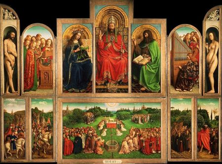 A view of the Ghent Altarpiece.