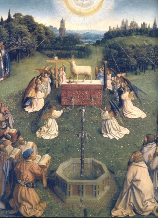 Ghent_Altarpiece_Adoration_of_the_Lamb_2