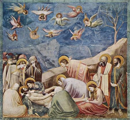 Lamentation of Christ panel from Scrovegni Chapel.