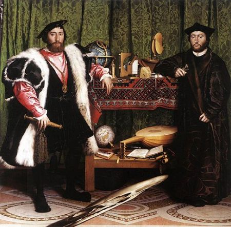 The Ambassadors by Hans Holbein the Younger.