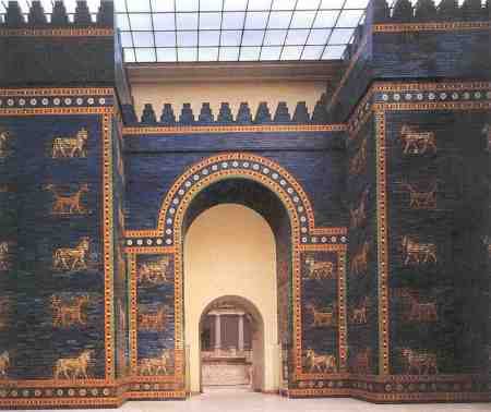 The reconstructed Gate of Ishtar at the Pergamon Museum in Berlin.