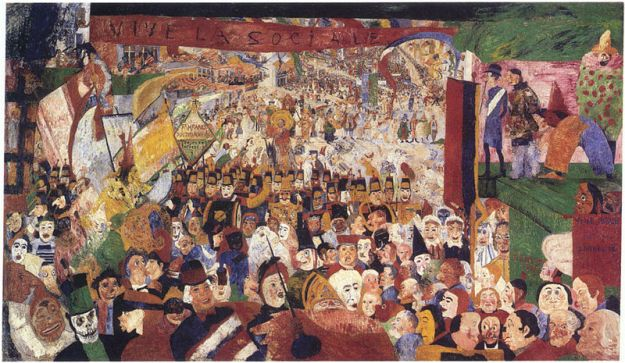James Ensor - Christ's_Entry_Into_Brussels_in_1889