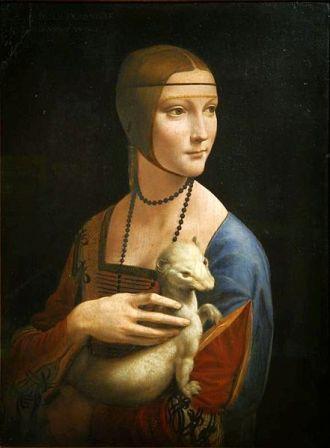Lady with an Ermine, by Leonardo da Vinci.