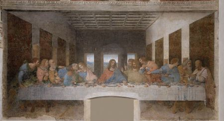 The restored Last Supper.