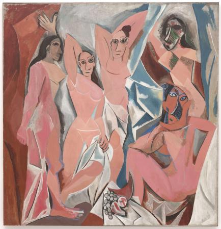 Picasso's Les Demoiselles d'Avignon.