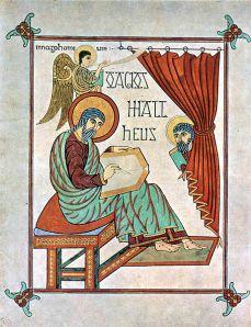 Page from Lindesfarne Gospels.