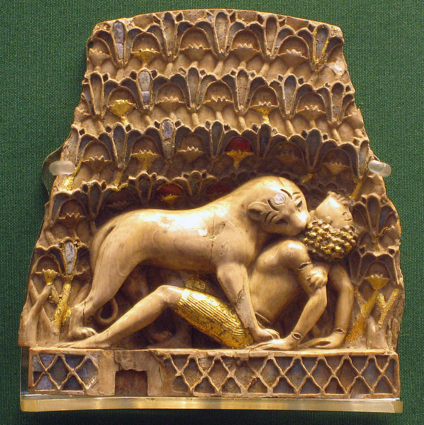 lioness devouring a boy