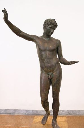 This bronze sculpture was found in the Bay of Marathon in the Aegean Sea in 1925.