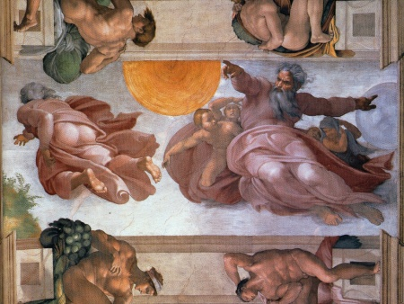 michelangelo sistine chapel sun and moon