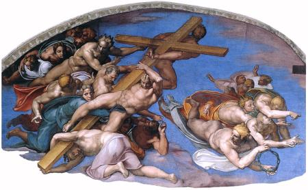 Michelangelo,_last judgment detail