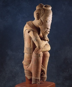 Terracotta Sculpture of a Seated Dignitary.