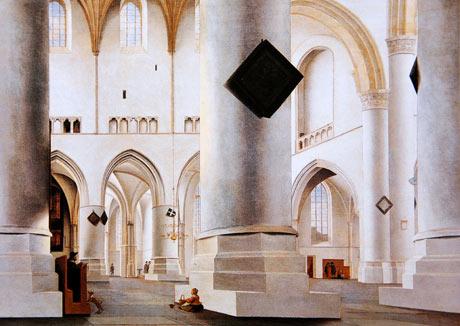 Pieter Saenredam's The Interior of the Grote Kerk at Haarlem.