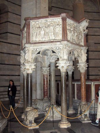 Baptistery Pulpit, Pisa Cathedral.