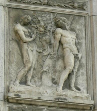 porta magna Jacopo_della_quercia,_03.peccato_originale