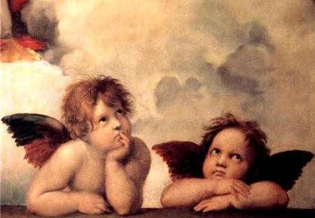 Rafael sistine madonna angels