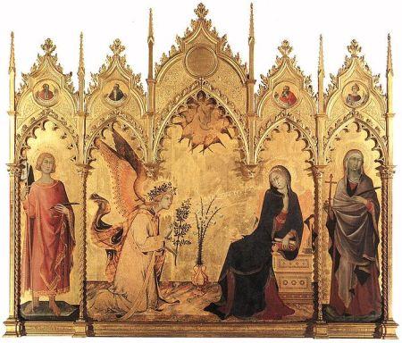 The Annunciation, St. Alphanus Altarpiece.