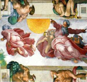 Creation of the Sun, Sistine Chapel.