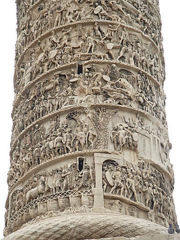 Detail of Trajan's Column.