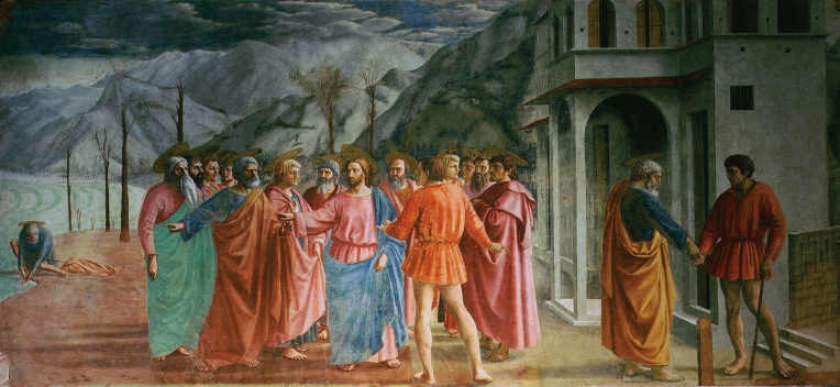 The Tribute Money is one of Masaccio's frescoes in the Brancacci Chapel.