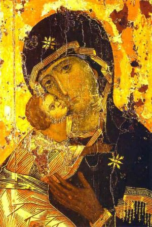 This icon has been in Russia since 1131 and is venerated by the Russian Orthodox Church as the protectress of Russia.