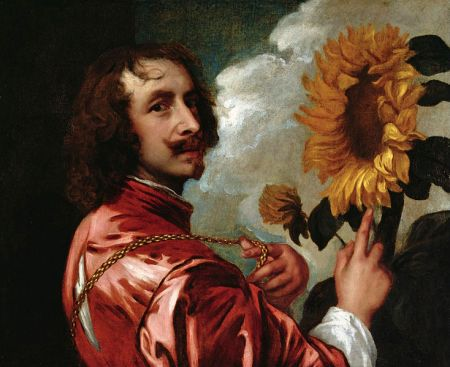 Self-Portrait with a Sunflower, by Anthony van Dyck (c. 1634).