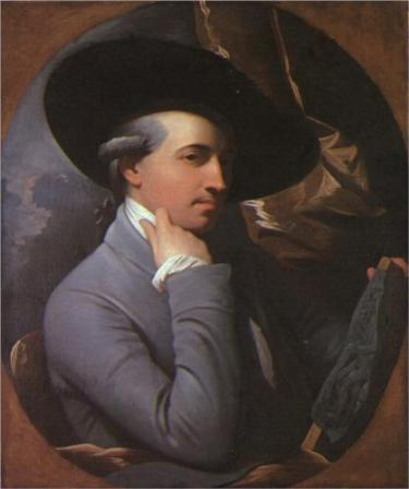 Self-Portrait of Benjamin West (1770).