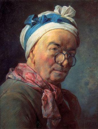 A 1771 Self-Portrait by Jean-Baptiste-Simeon Chardin.