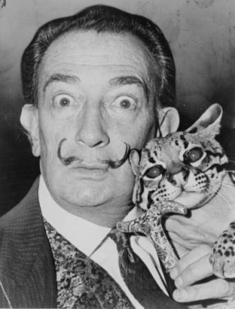 Salvador Dali, photographed by Richard Higgins (1965).