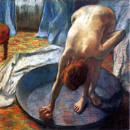 Edgar-degas-woman in the bath