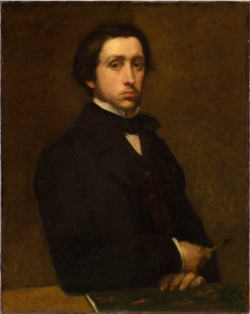 Self-Portrait of Edgar Degas (1855).