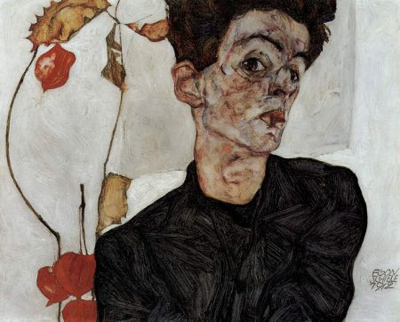 Self-Portrait of Egon Schiele (1912).