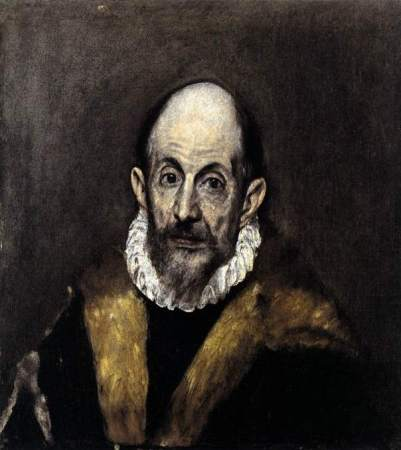 Portrait of a Man, by El Greco, believed to be self-portrait (1595-1600).