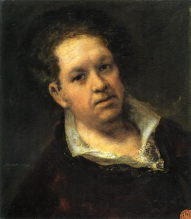 Self-Portrait of Francisco Goya (1815).