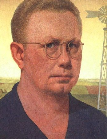 Self-Portrait of Grant Wood (c. 1932).