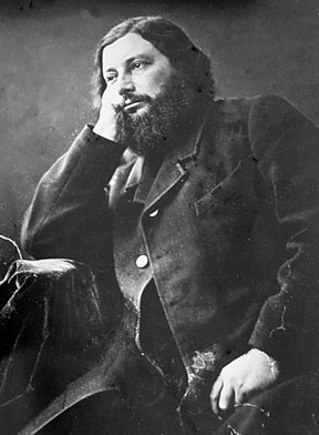 Gustave Courbet, photographed by Nadar.