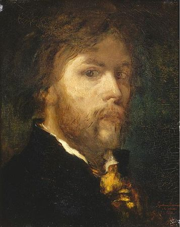 Self-Portrait of Gustave Moreau (1850).